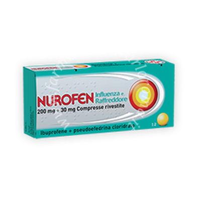 Nurofen influenza e raffreddore 200 mg + 30 mg compresse rivestite  200 mg + 30 mg compresse rivestite 12 compresse rivestite